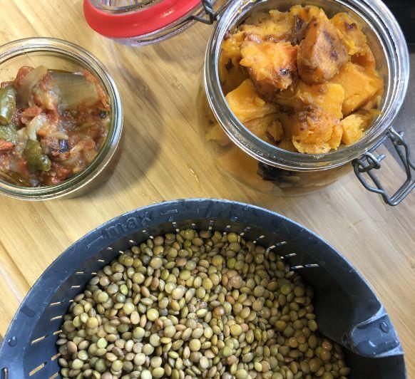 batch cooking : lentejas estofadas