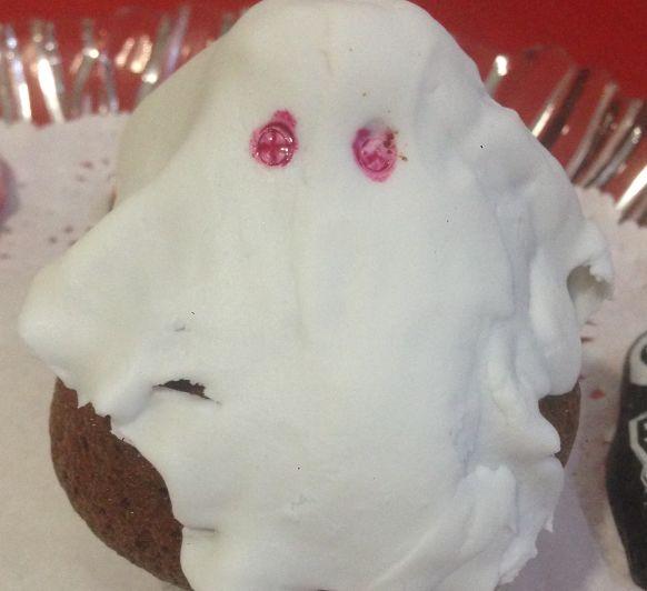 Cupcakes Fantasma (Especial Hallowen)