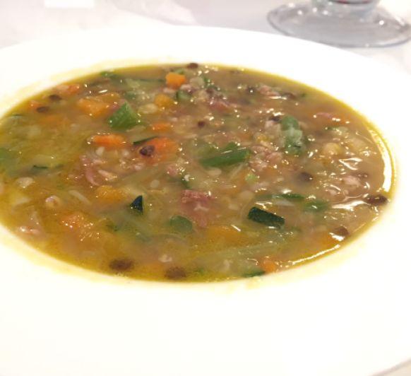 Sopa de verduras con lentejas y espelta con Thermomix®