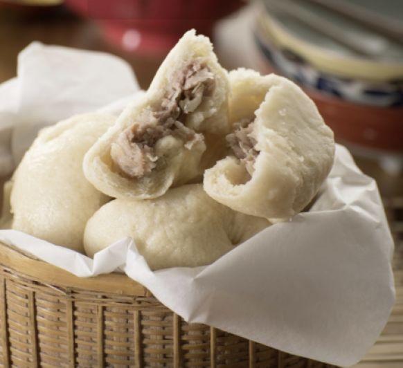 Panes al vapor rellenos de cerdo (baozi) -China