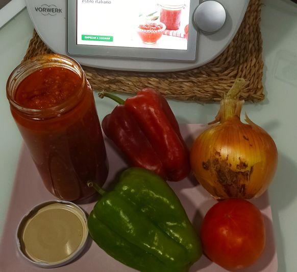 Salsa de tomate al estilo Italiano Thermomix® Zafra