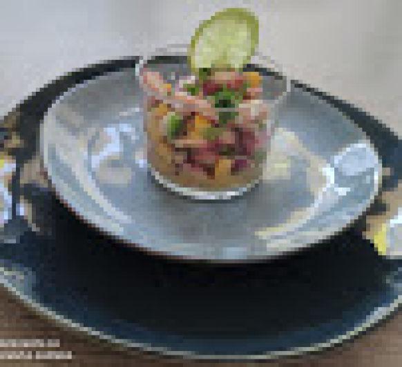 Ceviche de pulpo y gambas con Thermomix® - Majadahonda- Madrid