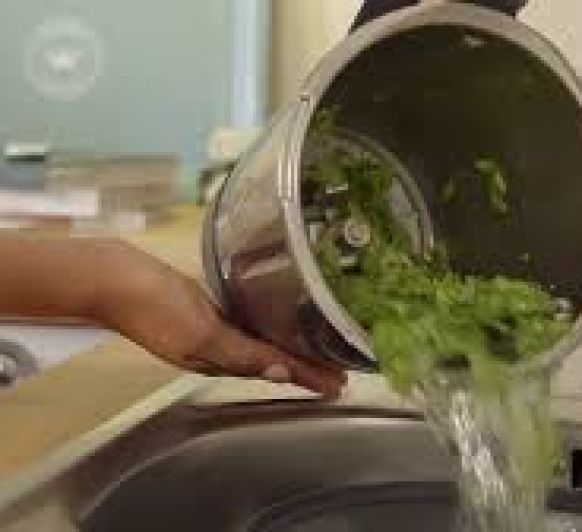 Lavar y picar lechuga