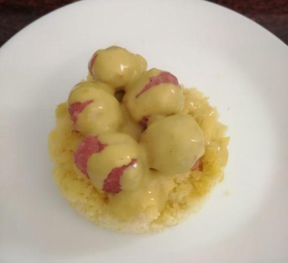 Albóndigas con al curry con cus-cus. otra receta espectacular.