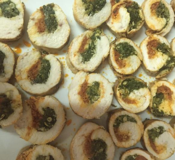 Pechugas de pollo con sobrasada,queso de mahón y espinacas CON Thermomix® BY CARMEN
