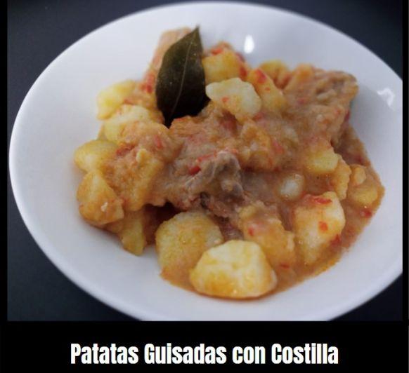 PATATAS GUISADAS CON COSTILLA