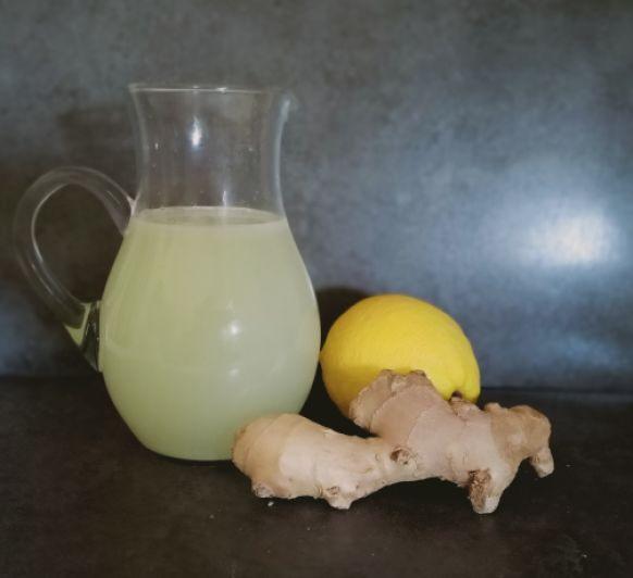 Limonada con genjibre y limón