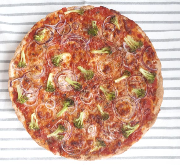 PIZZA INTEGRAL CON VERDURAS, sorprendentemente sencilla