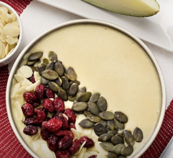 SMOOTHIE BOWL DE MELON Y MELOCOTÓN