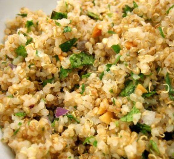 Quinoa con verduras al vapor sin gluten