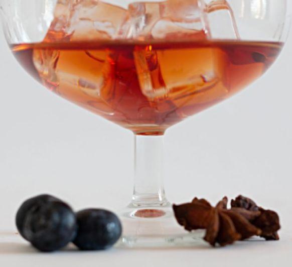 Trifle de uvas y cava (Gelatina de pacharán)