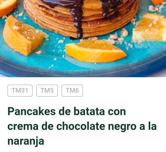 PANCAKES DE BATATA Y CHOCOLATE NEGRO C9N Thermomix®