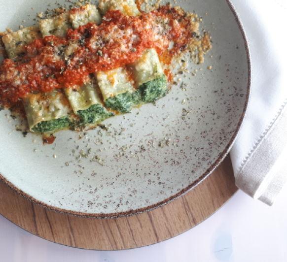 CANELONES DE ESPINACAS Y REQUESÓN, una manera divertida de comer verdura