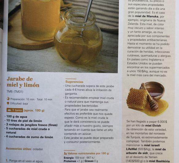 Jarabe de Miel y Limón. Revista de Marzo.