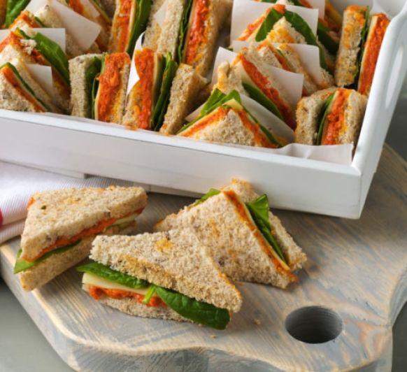 Sándwich con paté de anchoas